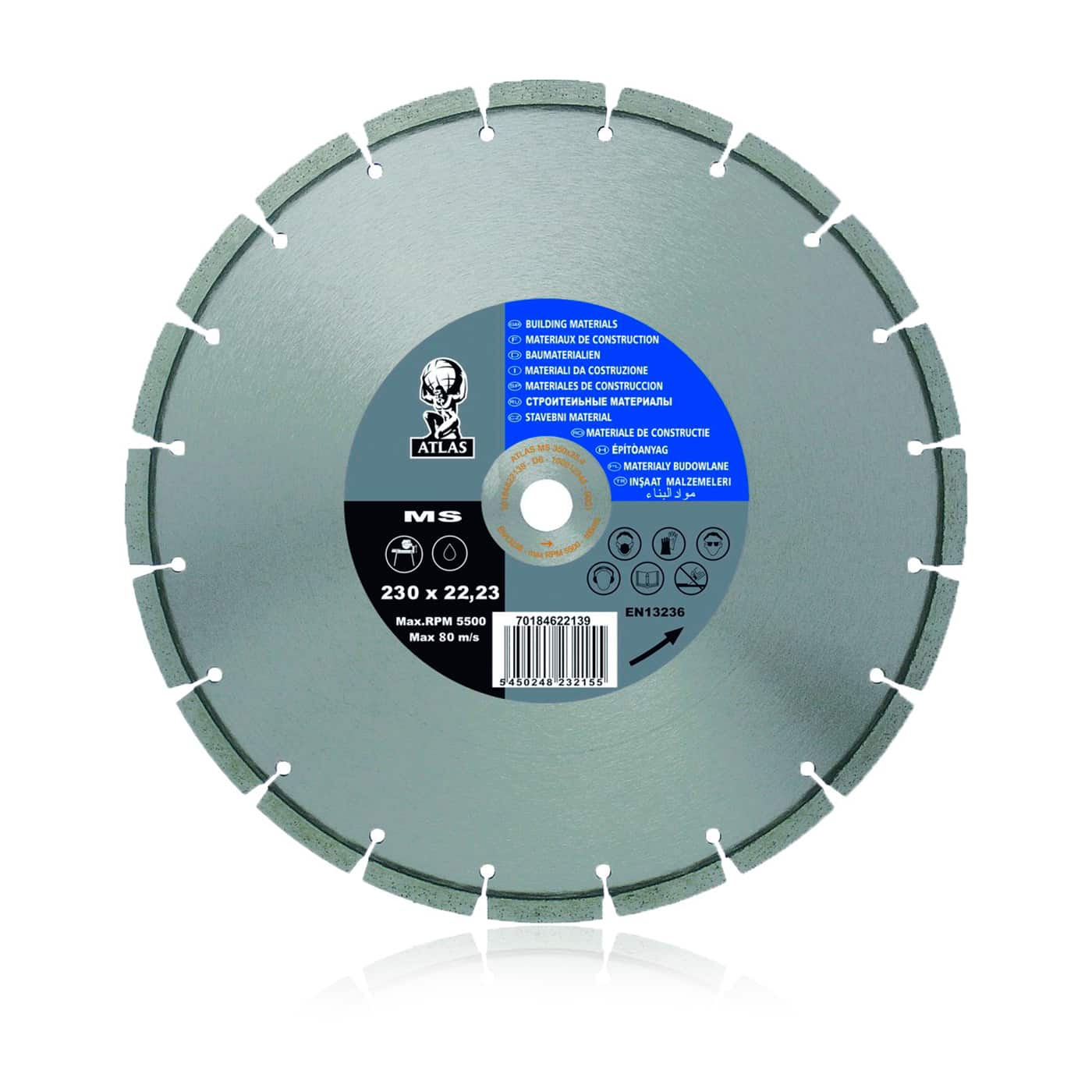 smirdex-917-atlas-universal-diamond-discs sintered segmented blade,precision cut,long-lasting,special desing